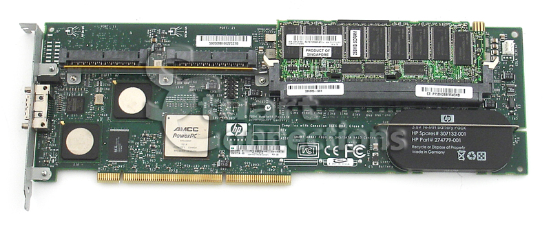 370855-001 HP Smart Array P600 PCI-X SAS RAID Controller 256MB Cache Controller
