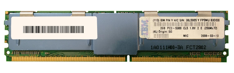 2GB 1X2GB PC2-5300 2RX4 DIMM - IBM