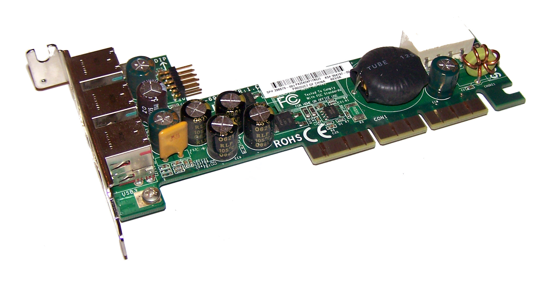 RP5000 POWERED USB PCI BOARD