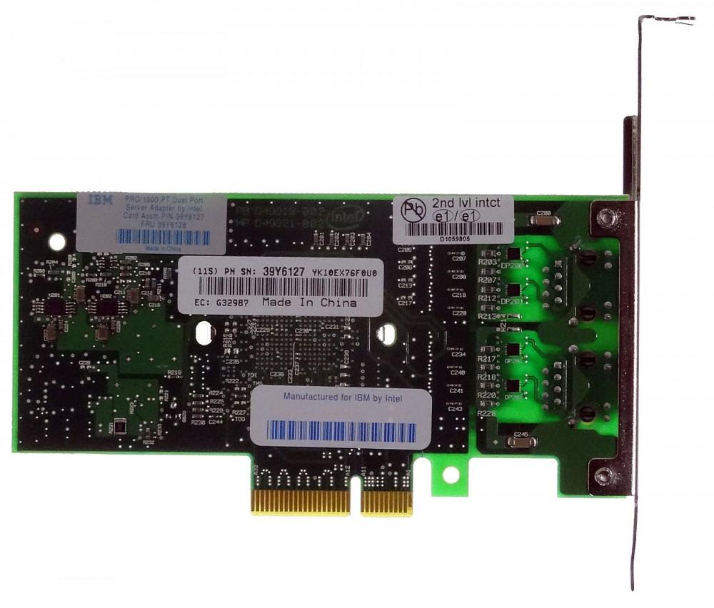Genuine IBM Dual Port Gigabit PCIe Network Interface Card Full Profile 39Y6127