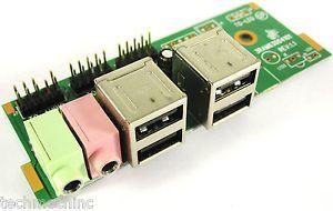 Systemax desktop 3ram63004101 I/O front panel usb hd audio jack p