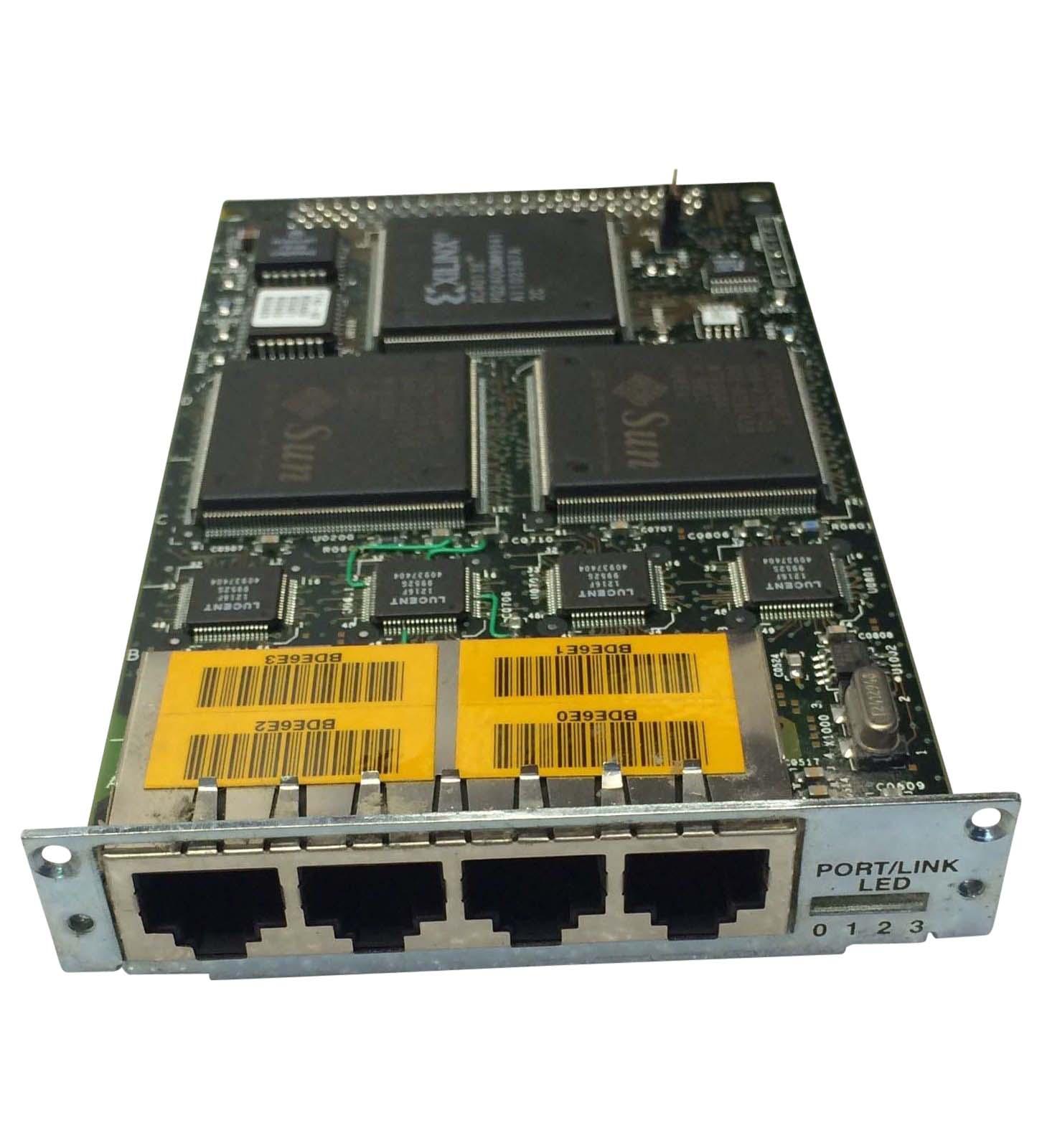 Sbus 100baset Quad Fast Ethernet Card 2.0 (p/n 501-5443)