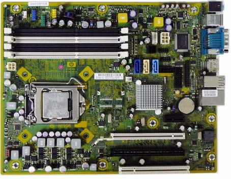 HP 505803-000 System board (motherboard) - For Elite 8000, 8100 Series Small Form Factor (SFF) PC (Piketon)