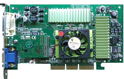 54NHR Dell 64MB nVidia Geforce2 DVI VGA Video Graphics Card