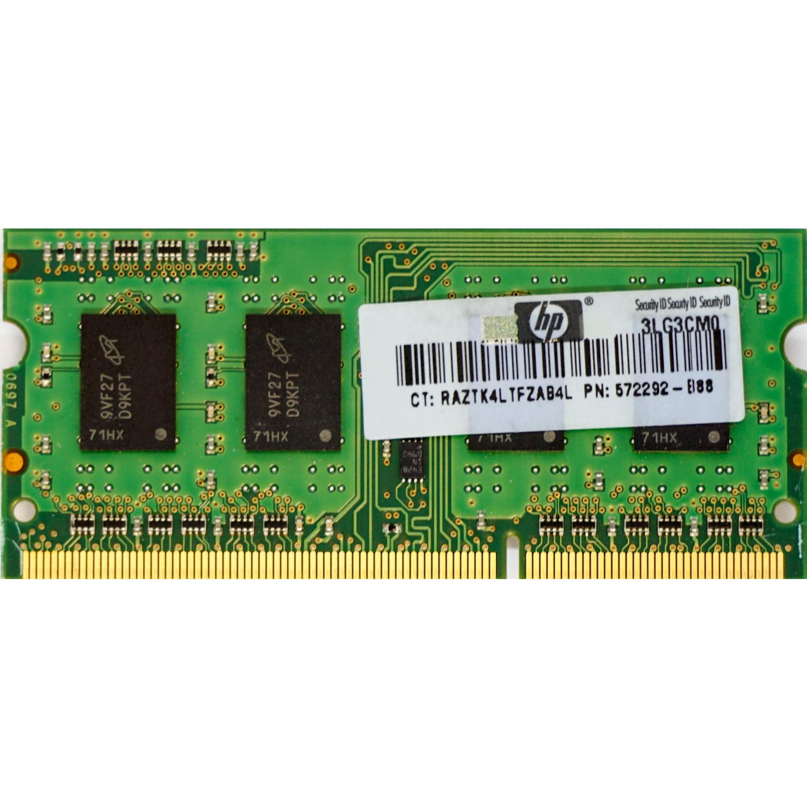 1GB, PC3-10600S/1333MHZ, 204-PIN DDR3 SODIMM