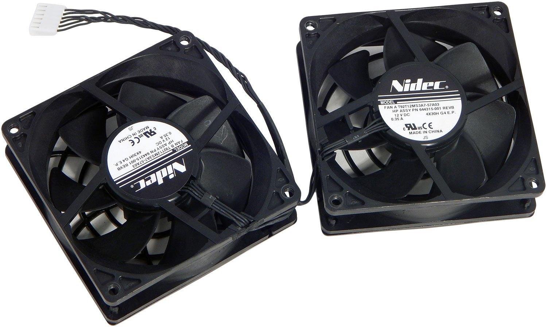 HP Z820 80mm 12VDC 0.35A Rear Dual Fan 644315-001