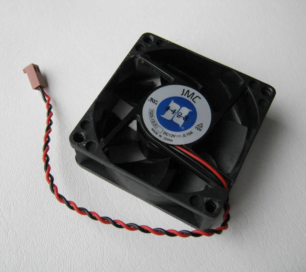 12 Volt DC 70 mm Brushless Tubeaxial Fan 2 wire 2 pin