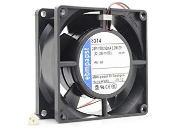 PaPSt 8314 Fan 24Vdc 2.2W 12-28Vdc 2-Wire Multifan 8314