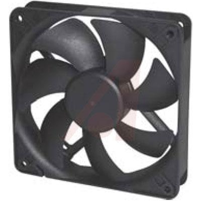 Fan; DC; 12V; 120x120x25mm; Sq; 93CFM; 3.4W; 40.5dBA; 2700RPM; Leadwires