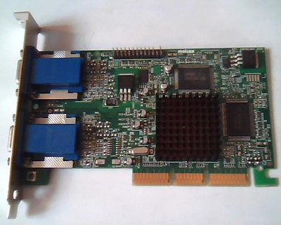 Matrox 975-02 32Mb Agp Video Card Dual Head