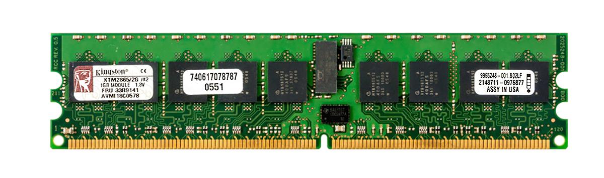 Kingston 1Gb Pc2-3200 Ddr2-400 Regist 9965248-001.B02Lf