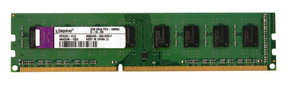 KIT OF MEMORY 9995403-030.A00LF Kingston 2GB DDR3 Non ECC PC3-10600 1333Mhz 2Rx8 Memory