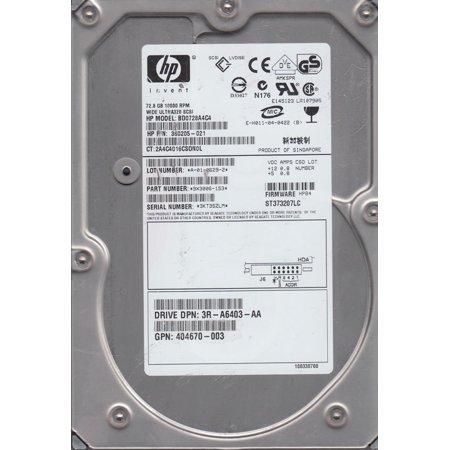 72.8GB 10K U320 HARD DRIVE WITH CADDY