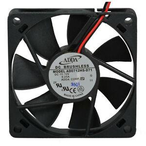 ADDA AD0712HS-D71 DC12V 0.25A 2 Pin 70x70x15mm Silent Case Cooling Fan