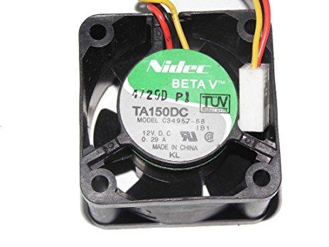Nidec Ta150Dc Fan 12V 0.29A 40*40*N