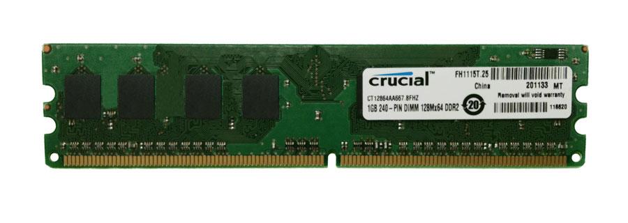 1GB 240-pin DIMM DDR2 PC2-5300 NON-ECC