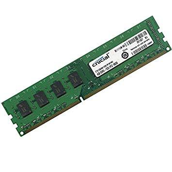 4GB Crucial CT51264BA1339, C16F1MR,Memory RAM, DDR3-1333 PC3-1060