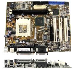 Asus Cuw-Am Motherboard System Board Tortuga Pentium III, Socket