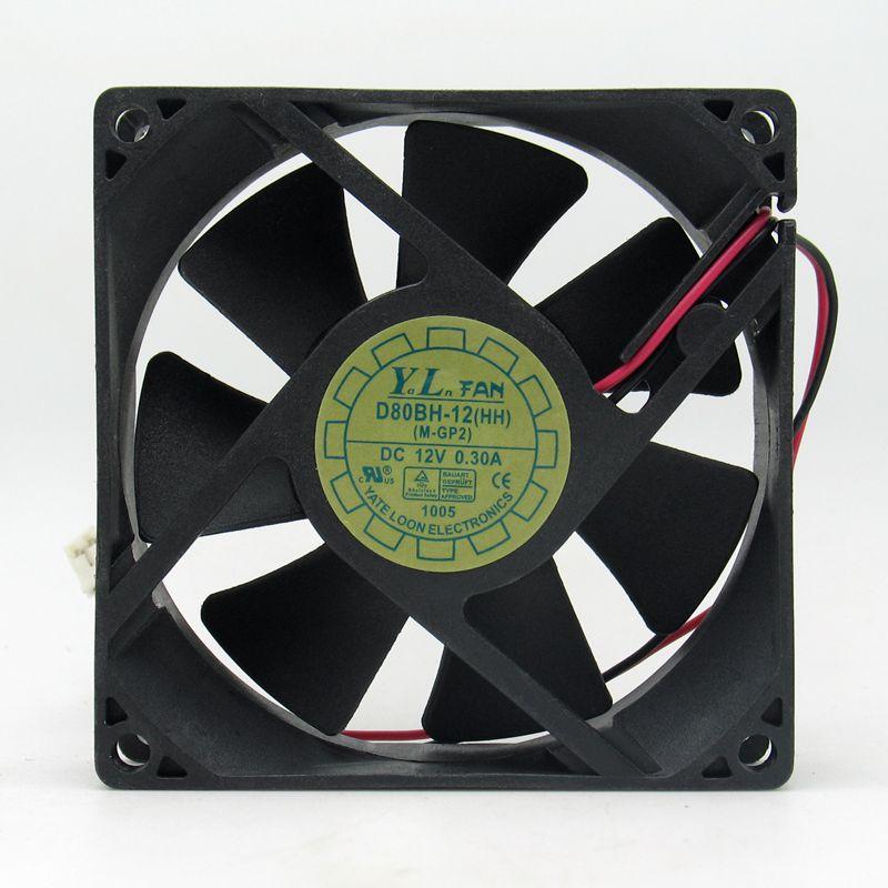 Yateloon D80Bh-12 Fan Dc 12V 0.19A