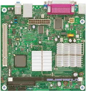 Intel system board with network card