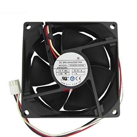 DF0802512SEMN - FAN 12VDC 0.13A 1.56W, 3-WIRE, 80x25mm