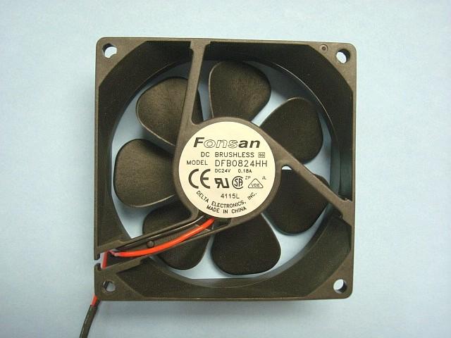 Fan Dc24V 0.18A 80Mm X 80Mm X 25Mm 3.2 Inch X 3.2 Inch X 1 Inch