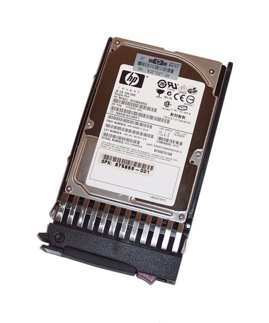 HP 72GB SAS Single Port 10K RPM Hot Plug SFF Hard Drive 375696-00