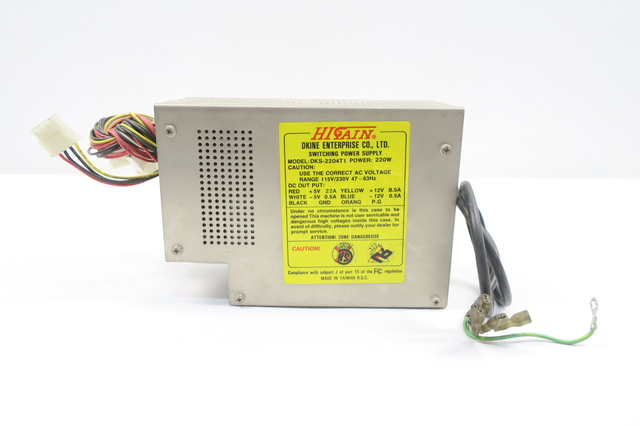 Higain Dks-2204T1 Power Supply 220W At With Power Switch Cable