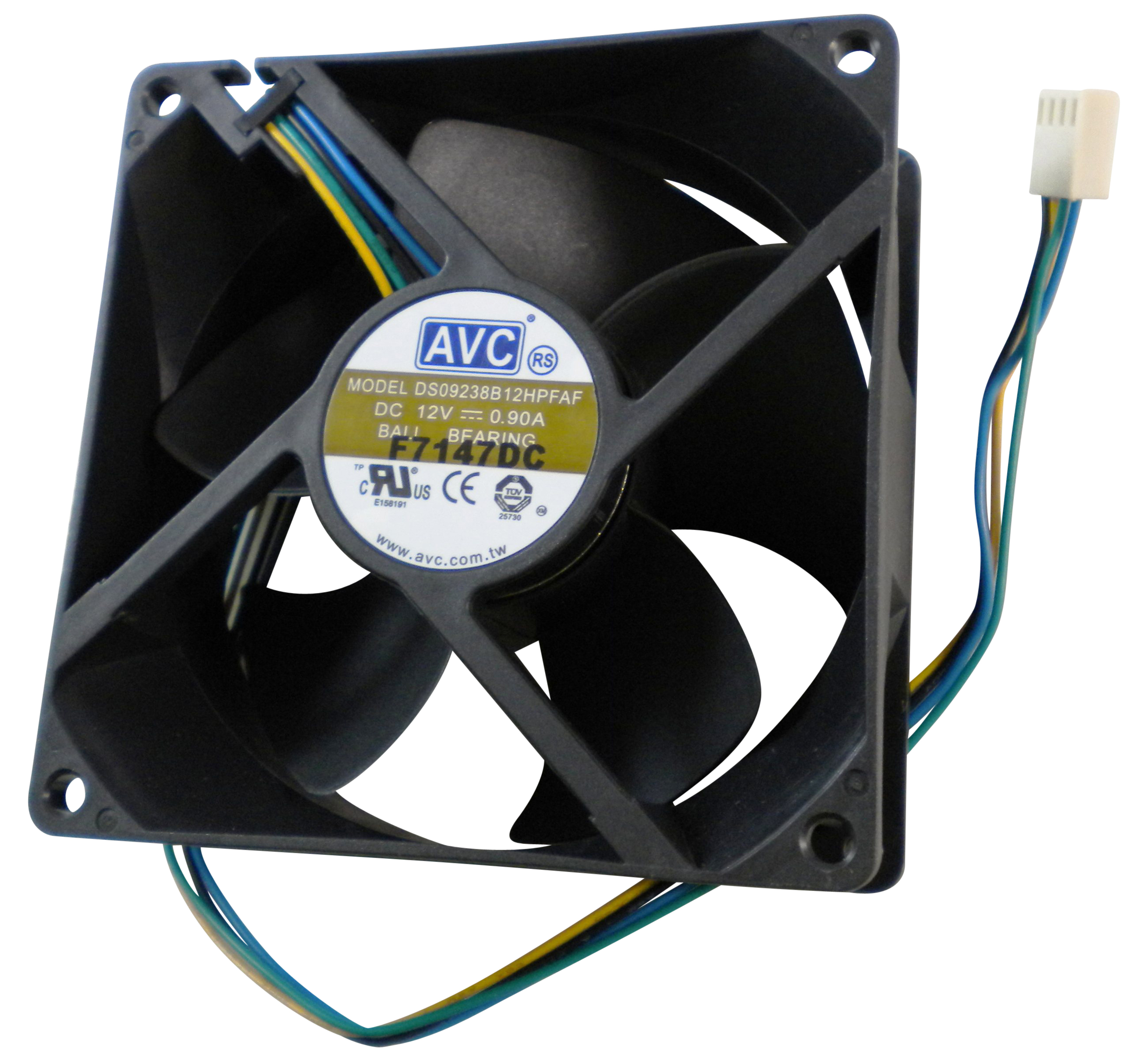 AVC DS09238B12HP020 92mm X 38mm 4-Pin PWM 2BB high speed fan