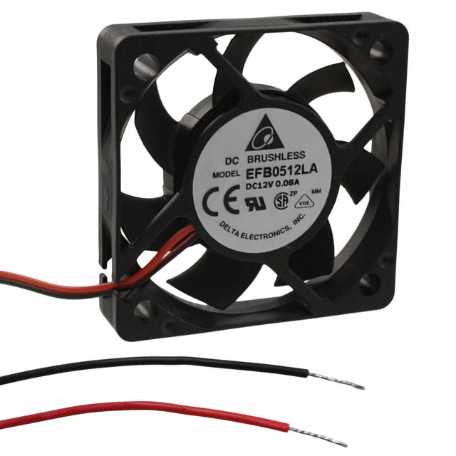 Delta Electronics EFB0512LA DC Fans Brushless Axial Fan,12 VDC,7.5 CFM,3500 RPM