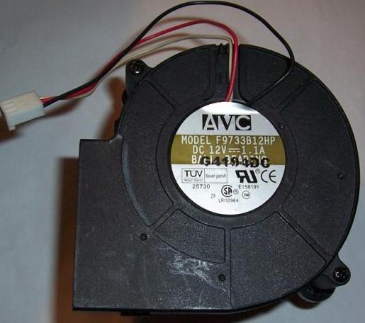 Avc F9733B12HP Fan Blower Assy Dc12V 1.1A