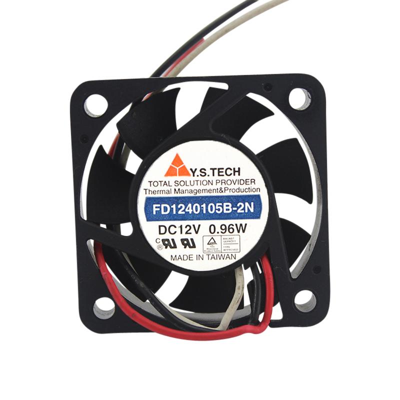 Ys Tech Fd1240105B-2N Fan Dc12V .96W