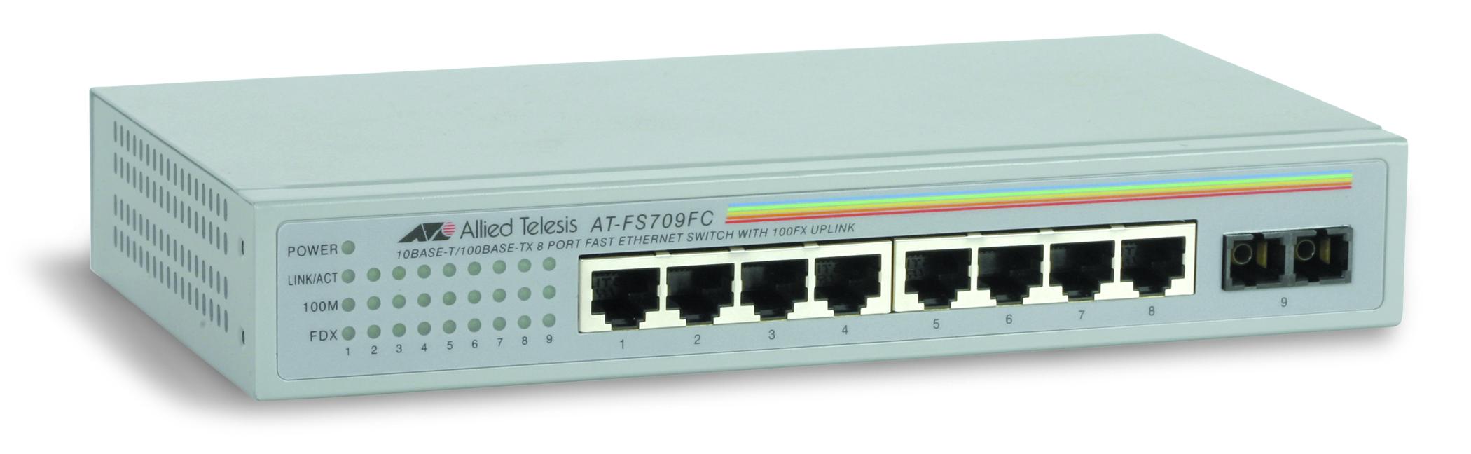 Allied Telesyn Fs709Fc 10/100 Fast 8-Port Switch W/ Fiber 100Fx U