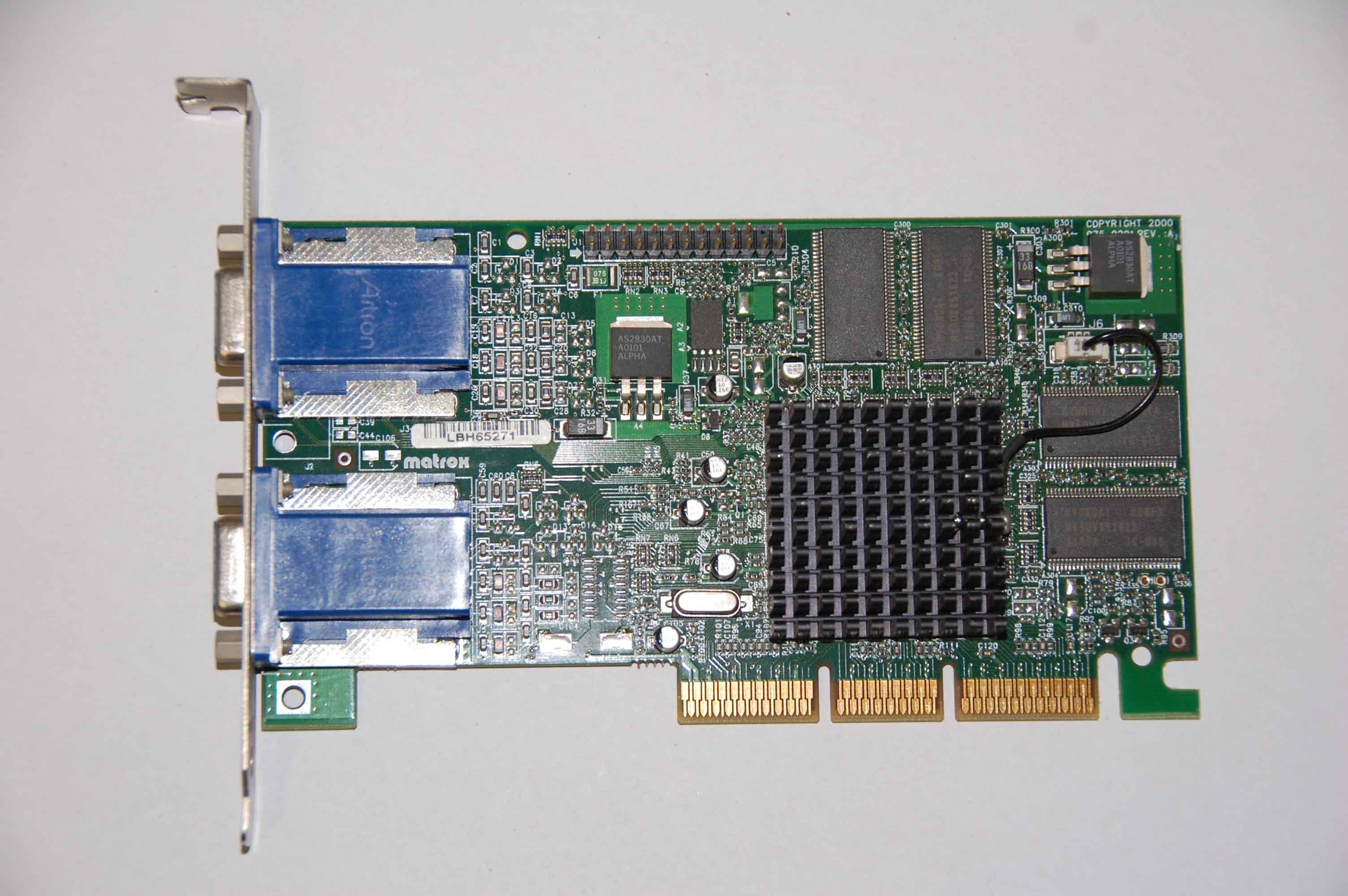Matrox G45+Mdha32Db 32Mb Agp Video Card Dual Head