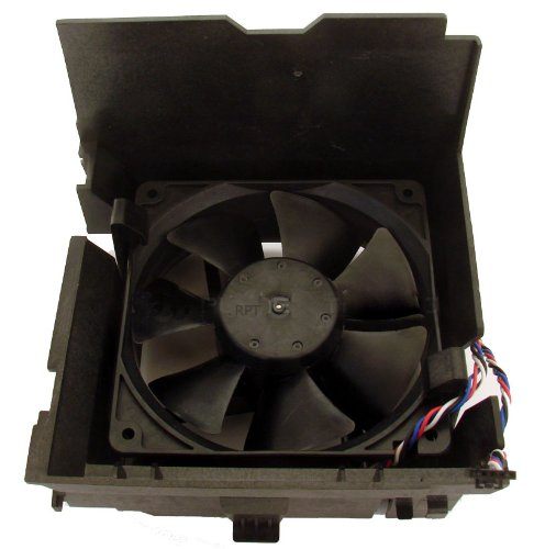 Dell H7058 fan 12V with 4 wire cable / 5 pin  & shroud for Opti & Dim SMT Mini-Tower
