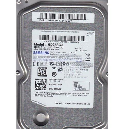 SAMSUNG HD253GJ 0TMN2K FW:1AJ10001 250GB 7200 3.5
