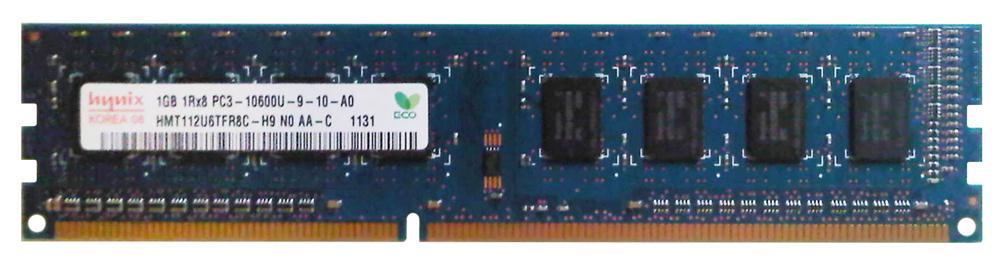 Hynix 1GB PC3-10600U DDR3-1333 1RX8 Non-ECC UDIMM Memory HMT112U6TFR8C-H9