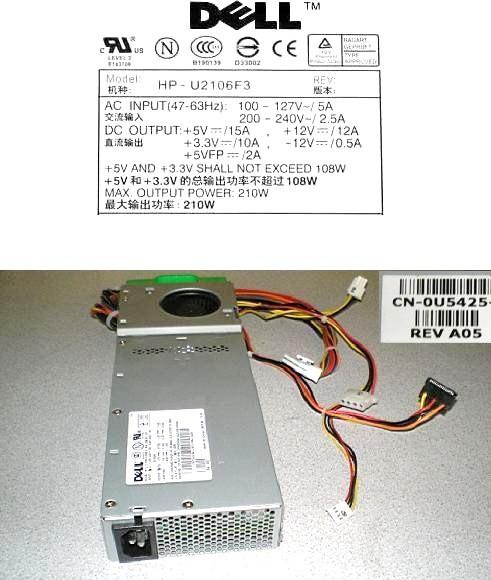 Dell HP-U2106F3 Power Supply - 210 Watt Sata for Optiplex GX170L