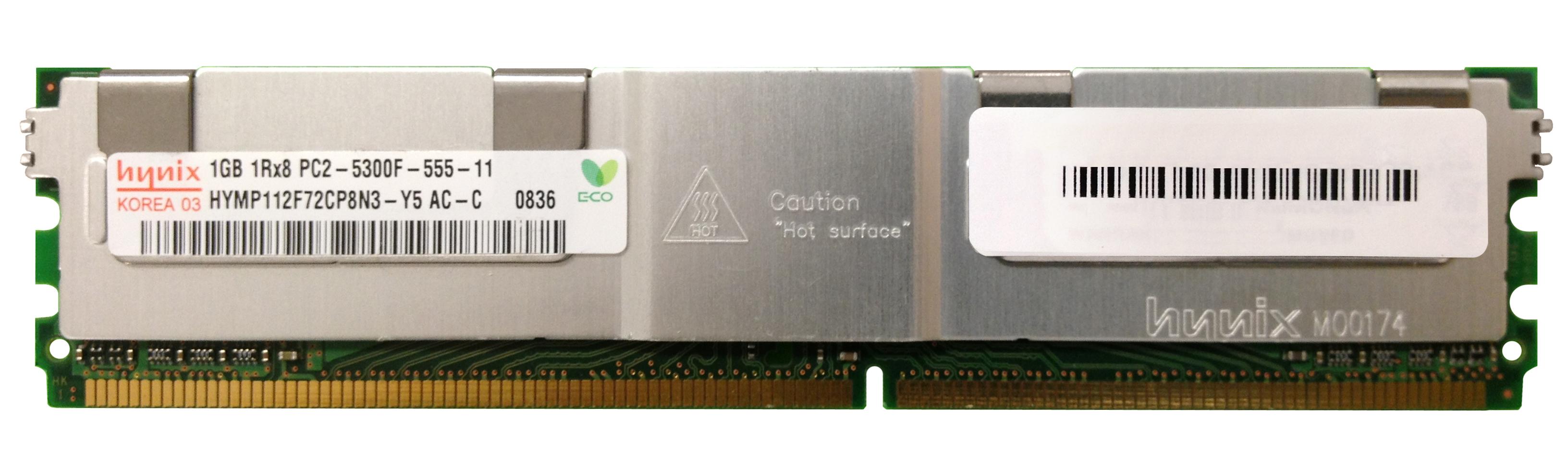 1GB 1Rx8 PC2 5300F 555