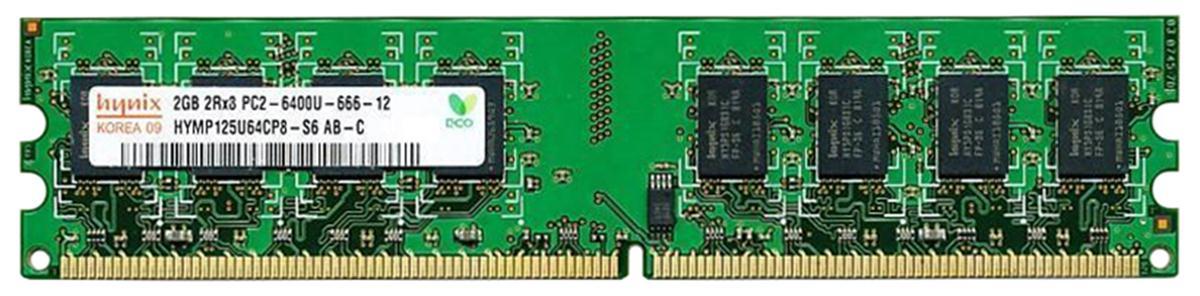 2GB 2Rx8 PC2-6400U-666-12