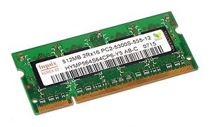 HYMP564S64CP6-Y5-2 Hynix 512MB DDR2 667MHz PC2-5300 Sodimm RAM