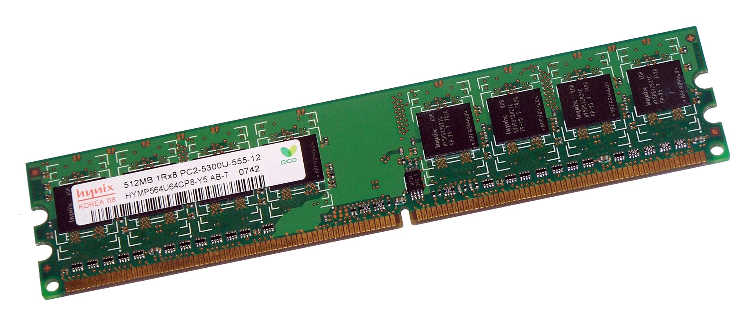 512MB 1Rx8 PC2 5300U