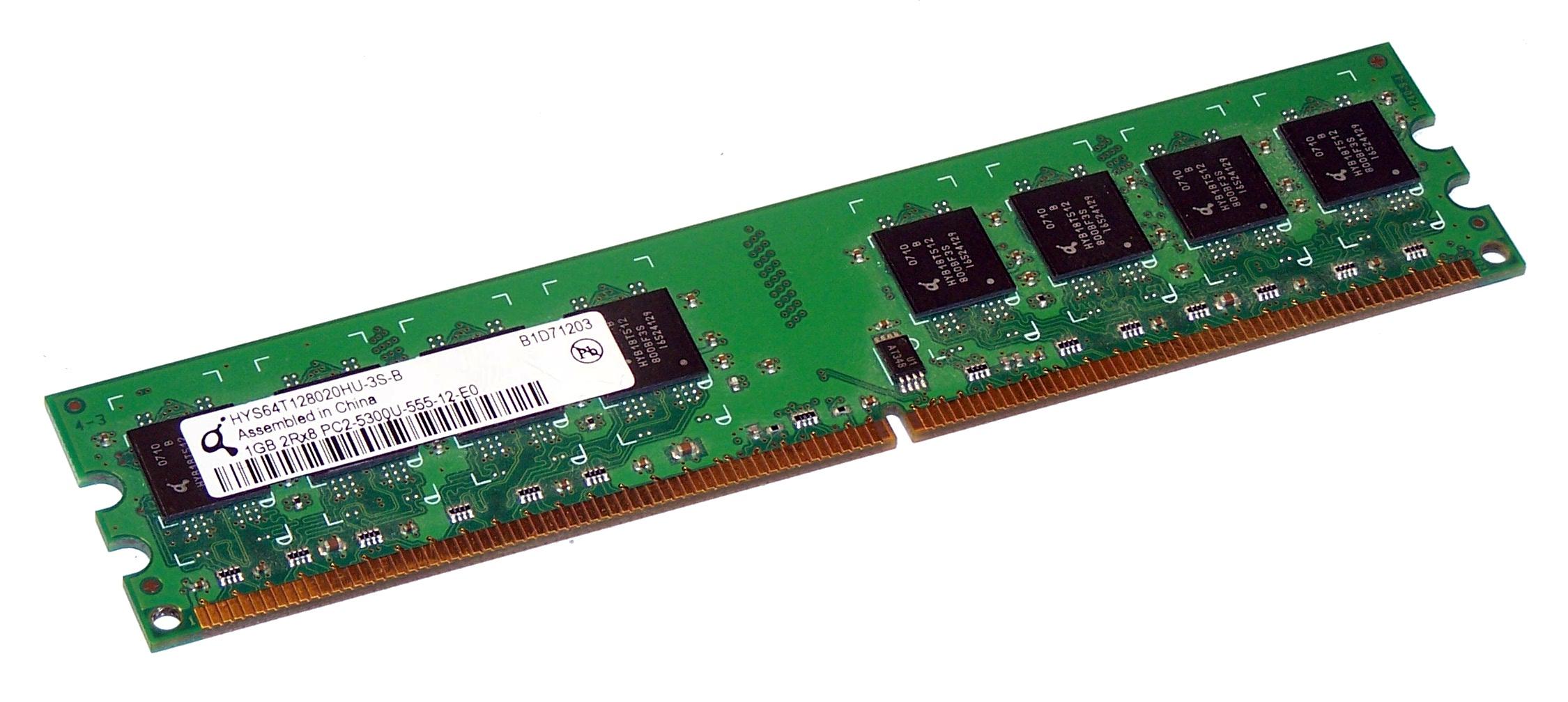 1GB 2Rx8 PC2 5300U 555 1Gb 2Rx8 PC2-5300-555 ddr2 Non-Ecc 667mhz