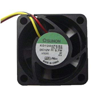 Sunon Kd1204Pkb2 Fan Dc12V 0.9W 2-Wire Short Cable