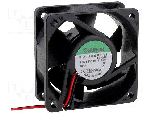 Sunon Kd1206Pts3 Fan Assy Dc12V 1.1W 2-Wire