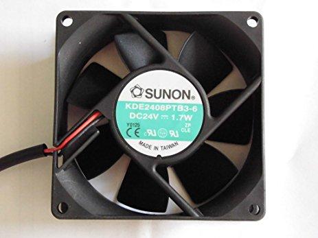 Sunon Kde2408Ptb3-6 Fan Assy 24Vdc 2.4W 2-Wire
