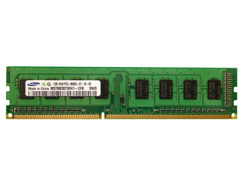 1GB 1Rx8 PC3 8500U