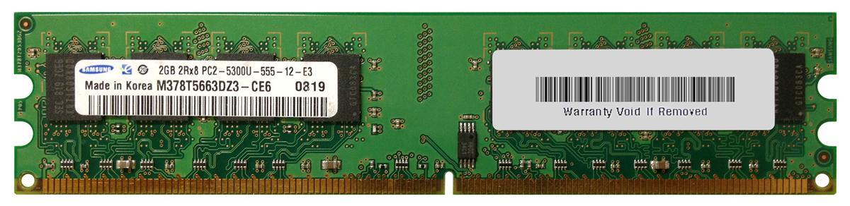2GB PC2-5300U DDR2-667 2RX8 N-ECC