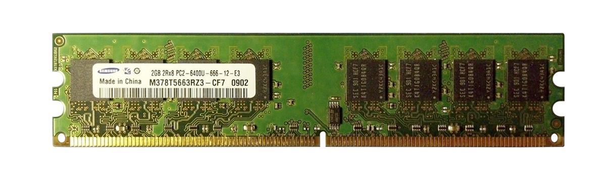 2GB 2Rx8 PC2-6400U-666-12-E3