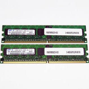 M393T6553CZ3-CCC Samsung 512MB PC2-3200 DDR2-400MHz ECC Registered CL3 240-Pin DIMM Single Rank Memory Module